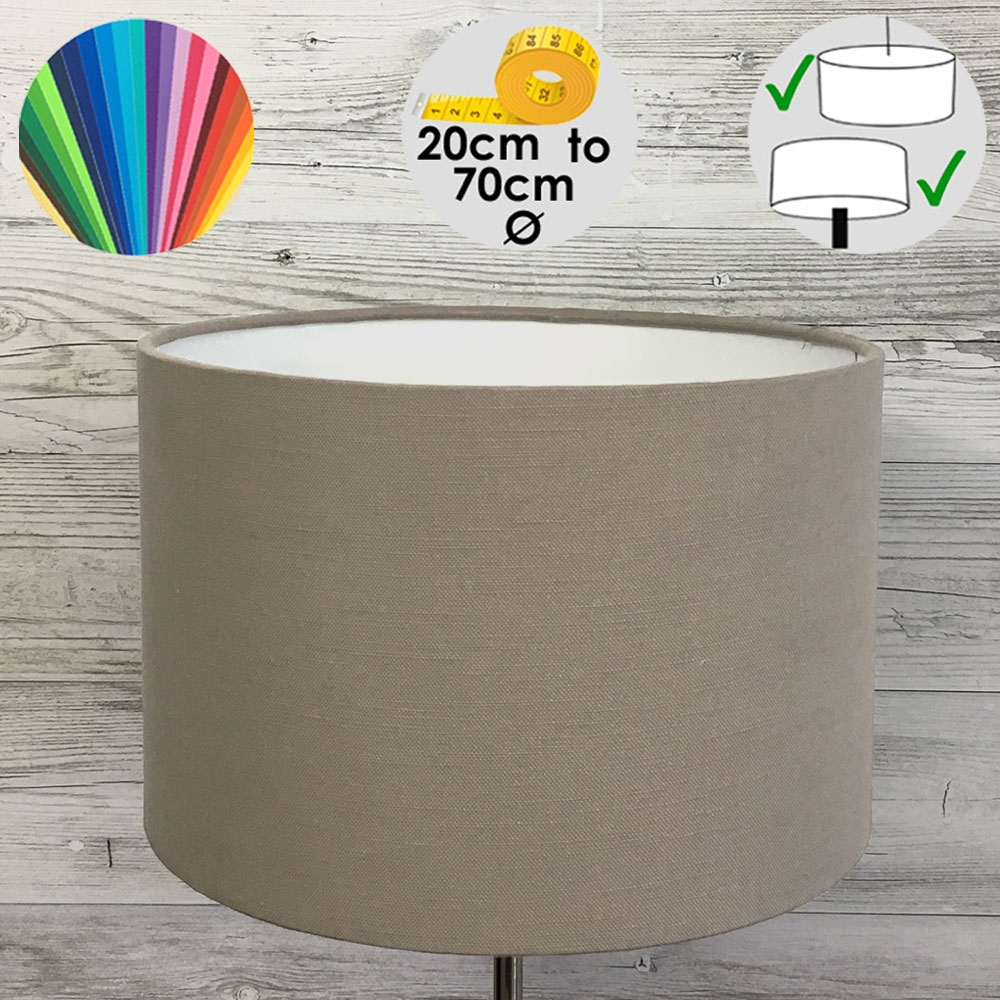 Aura Drum Table Lamp Shade Taupe